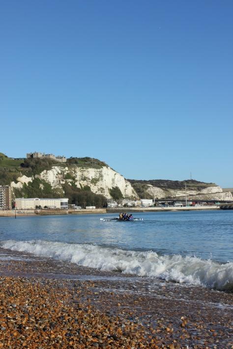 A sunny Dover coastal rowing experience