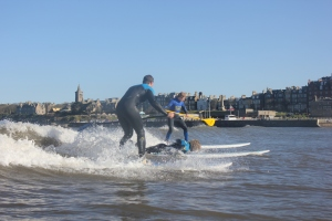 SUPing and Surfing in St Andrews
