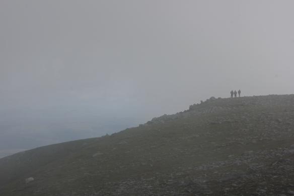 A misty summit